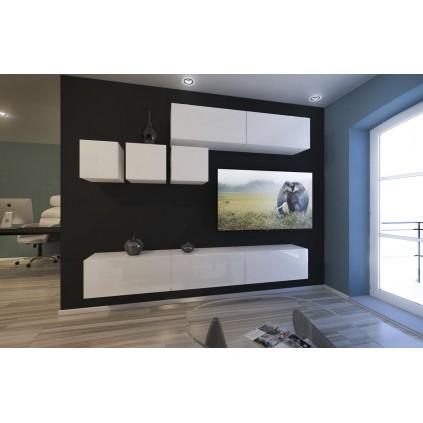 Tv-møbelsett Next 249x204 cm - Hvit