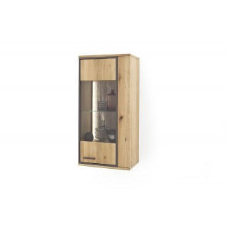 Vegghengt Vitrineskap Campinas 60x123 cm - Naturlook