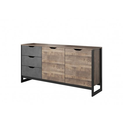 Skjenk Ardeno 161 cm - Trelook - Mørk - Loft style