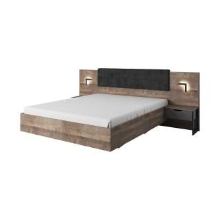 Seng Ardeno 160 cm - Trelook - Mørk - med nattbord
