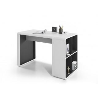 Mer omSkrivebord Tadeo 119x75 cm - Hvit - Med hylle
