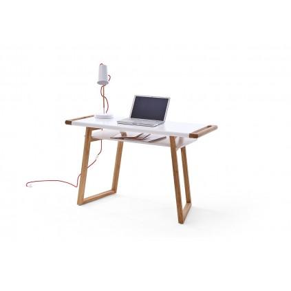 Skrivebord Teramo 122x76 cm - Eikelook - Hvit