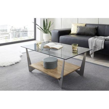 Sofabord Leon 90x40 cm - Med Glassplate