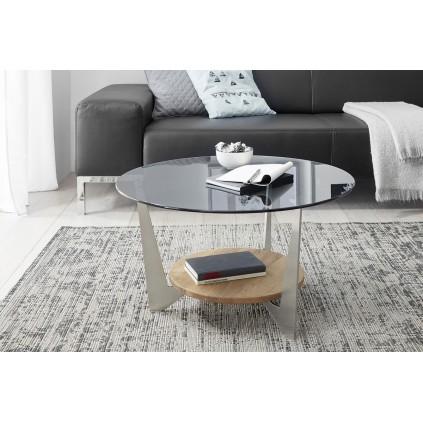 Sofabord Cadiz 70x40 cm - Med Glassplate