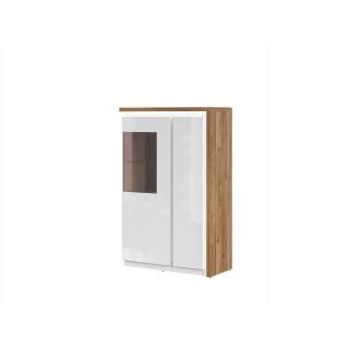 Vitrineskap Nora 96x148 cm - Trelook - Hvit høyglans
