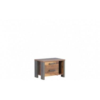 Nattbord Calfo 62x42 cm - Old-look - Betonglook