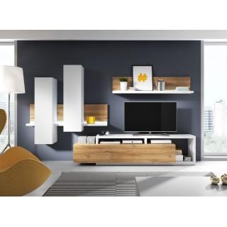 Seksjon Scaleo - Moderne Veggseksjon - Hvit Matt - Trelook