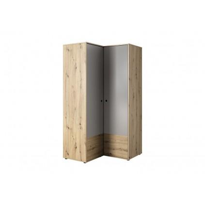 Hjørne garderobeskap Kelix - 100x196 cm - Trelook - Grå