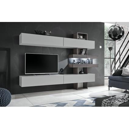 Tv-møbelsett Tokyo 250x180 cm - Grå - Trelook