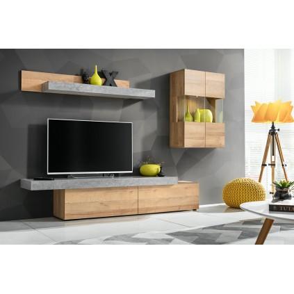 Tv-møbel Concert 230x160 cm - Trelook - Betonglook