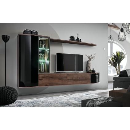 Tv-møbel Dark 180x140 cm - Trelook - Svart
