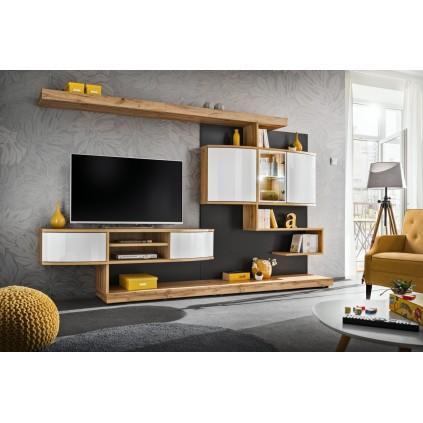 Tv-møbelsett Palermo 300x182 cm - Trelook - Hvit