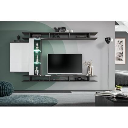 Tv-møbel Game 230x130 cm - Grafitt - Hvit