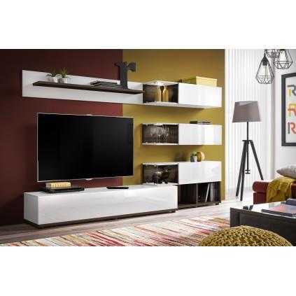Tv-møbelsett Silk 240x150 cm - Hvit