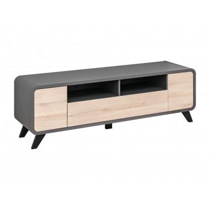 Tv-benk Round 160x52 cm - Antrasitt - Naturlook