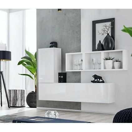 Møbelsett Blox 155x105 cm - Vegghengt - Hvit