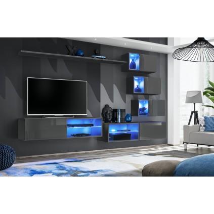 Tv-møbelsett Switch 260x170 cm - Grafitt