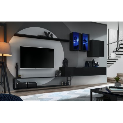 Tv-møbel Switch 330x180 cm - Svart