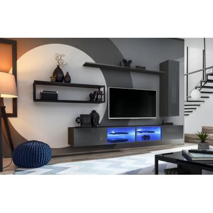 Tv-møbel Switch 300x170 cm - Vegghengt - Grafitt