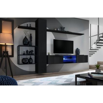 Seksjon Switch 270x180 cm - Svart