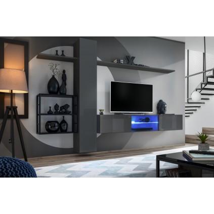 Seksjon Switch 270x180 cm - Grafitt