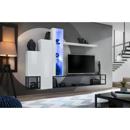 Tv-møbelsett Switch 240x151 cm - Hvit