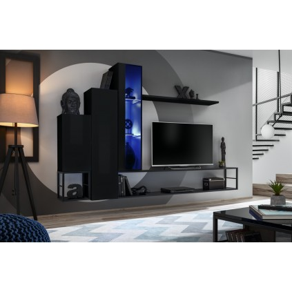 Tv-møbelsett Switch 240x151 cm - Svart