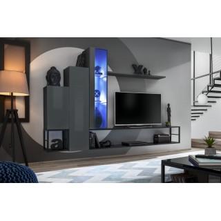 Mer omTv-møbelsett Switch 240x151 cm - Grafitt