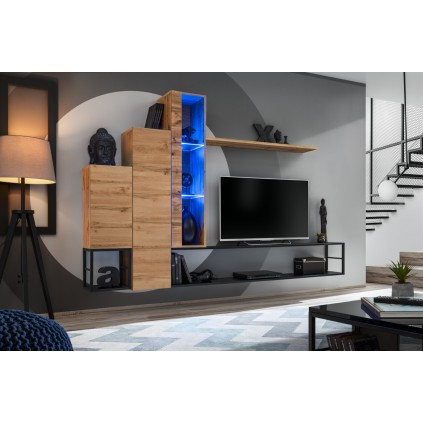 Tv-møbelsett Switch 240x151 cm - Naturlook