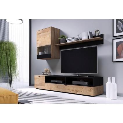 Tv-møbelsett Snap 180x175 cm - Trelook - Svart