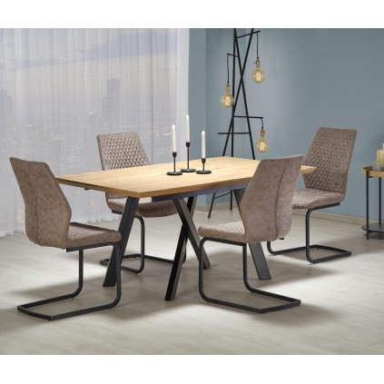 Spisebord Capital 160-200 cm - Eikelook - Svart