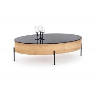 Sofabord Zenga 120x37 cm - Med Glassplate