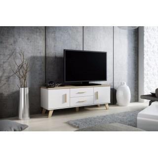 TV-benk Evena 140 cm - 2 dører - 2 skuffer