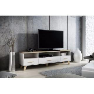 TV-benk Evena 180 cm - Hvit Matt - med ben