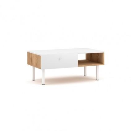 Sofabord Tulia 90x52 cm - Hvit - Eikelook