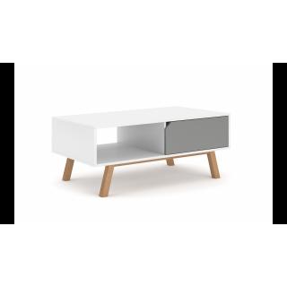 Sofabord Tokia 110x45 cm - Hvit - Grå