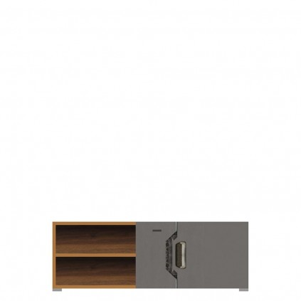 Tv-benk Davos 130x59 cm - Columbia Nøtt - Grå