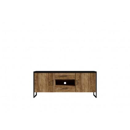TV-benk Terabo 154x68 cm - Trelook - Svart matt