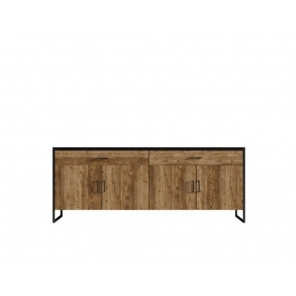 Skjenk Terabo 204x84 cm - Trelook - Svart matt