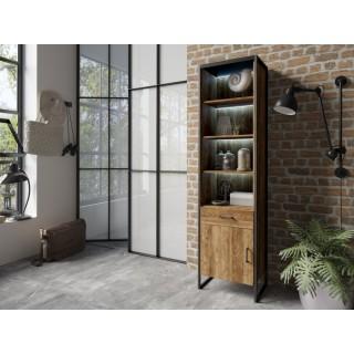 Mer omSkap - bokhylle Terabo 54x212 cm - Trelook - Svart matt