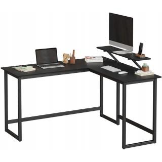 Hjørneskrivebord Stai 140-130 cm - Svart matt