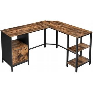 Hjørneskrivebord Sirdal 150 cm - Trelook - Svart