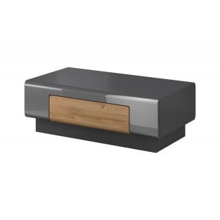 Sofabord Antrea 110x39 cm - Antrasitt høyglans - med skuff
