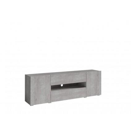 Tv-benk Delos 182x61 cm - Grå betong - med dører