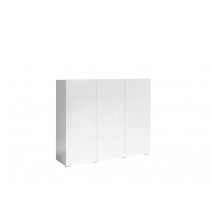 Skjenk Delea 137x115 cm - Hvit høyglans - 3 dører