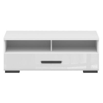 Tv-benk Asena 100x37 cm - Hvit høyglans