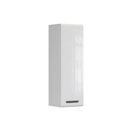 Veggskap Asena 40x125 cm - Hvit høyglans