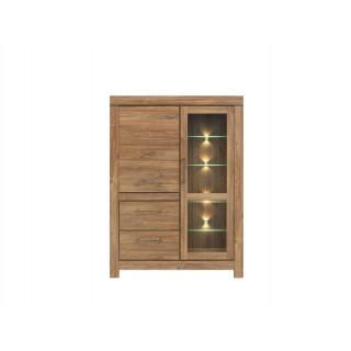 Vitrineskap Ryon 115x160 cm - Eikelook - LED