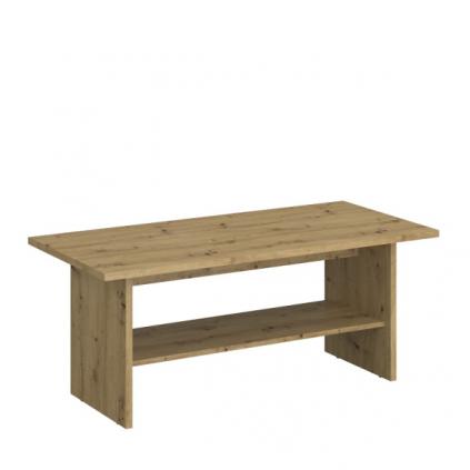 Sofabord med hylle Ayanta 120 x 50 cm - Eik artisan