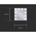 Sminkespeil Hollywood 60x60 - Vegghengt - Make up speil